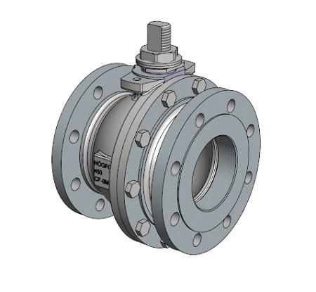 450 high pressure series ball valve of stainless steel with flanges