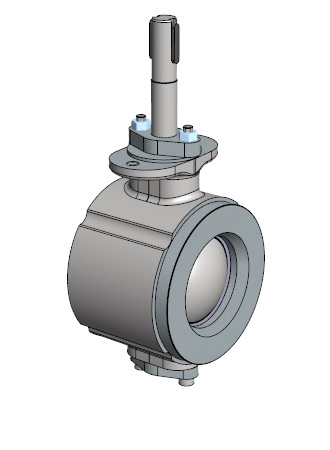 465 series wafer pattern V-port ball valve of stainless steel